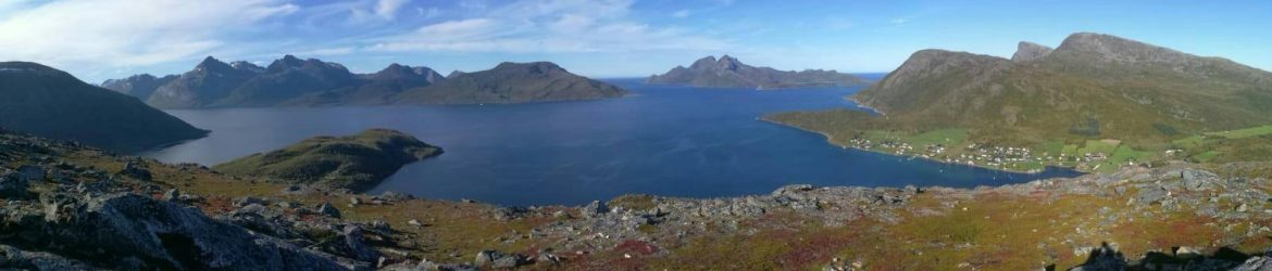 Panorama view from Skulsfjord, Kvaløya, Troms og Finnmark, Northern Norway – Photo made by M. Blom