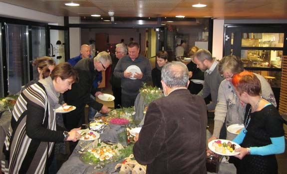 Christmas buffet with traditional Finnish dishes
