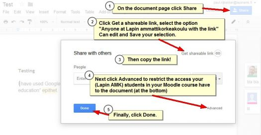 Share GAFE Drive file