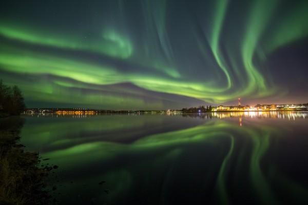 Night Sky at Rovaniemi 7 Oct 2015 pic taken by Veikko Keränen