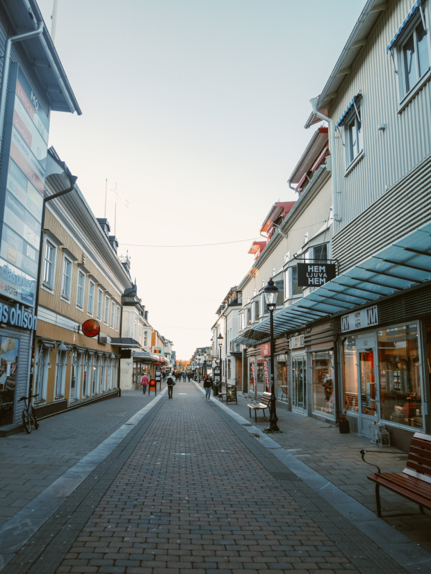 The shopping street in Piteå
