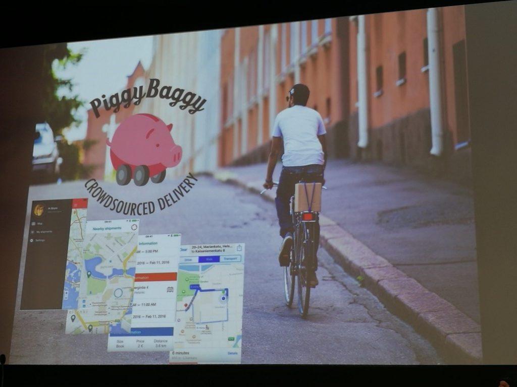 Kuva 2. PiggyBaggy tarjoaa ekologista kimppakyytiä tavaroille