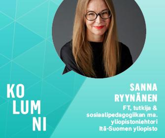 Teksti kolumni ja Sanna Ryynäsen kasvokuva.