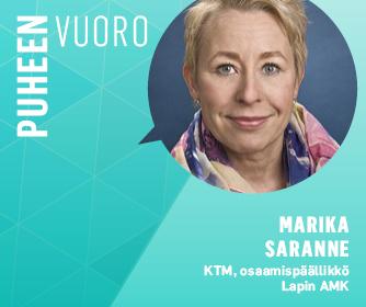 Sana puheenvuoro ja Marika Saranteen kasvokuva