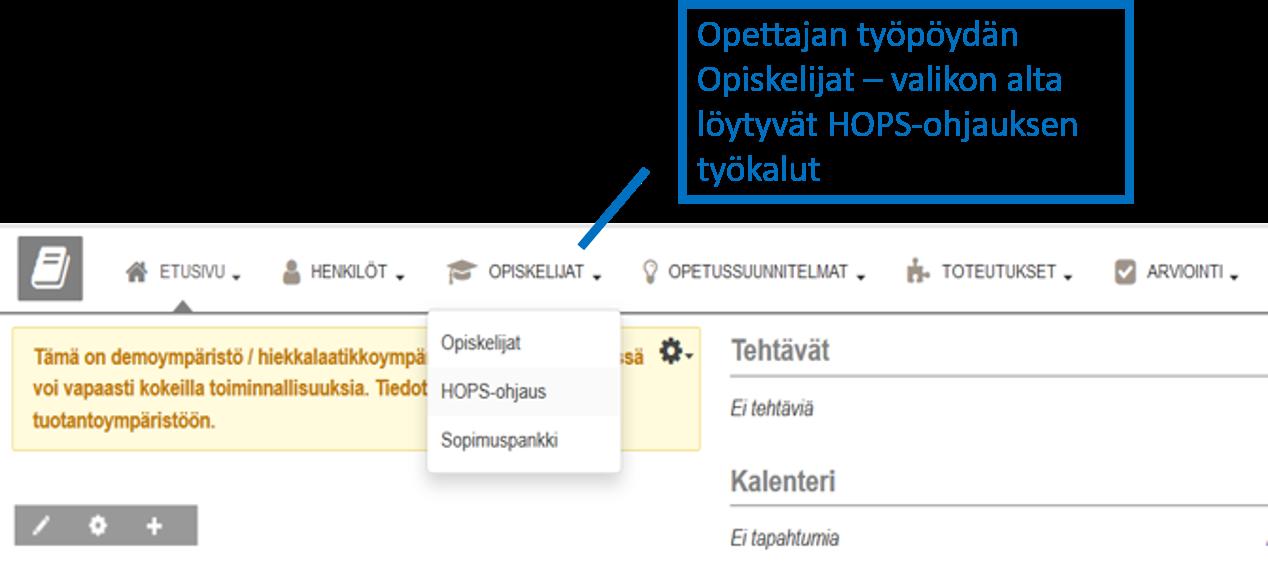 HOPS-ohjaus
