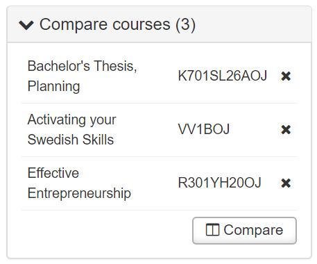 Compare courses