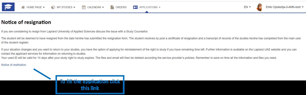 Notice of Resignation instructions